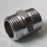 Chrome Plated Brass Male Nipple 1/2 inch - 25940100